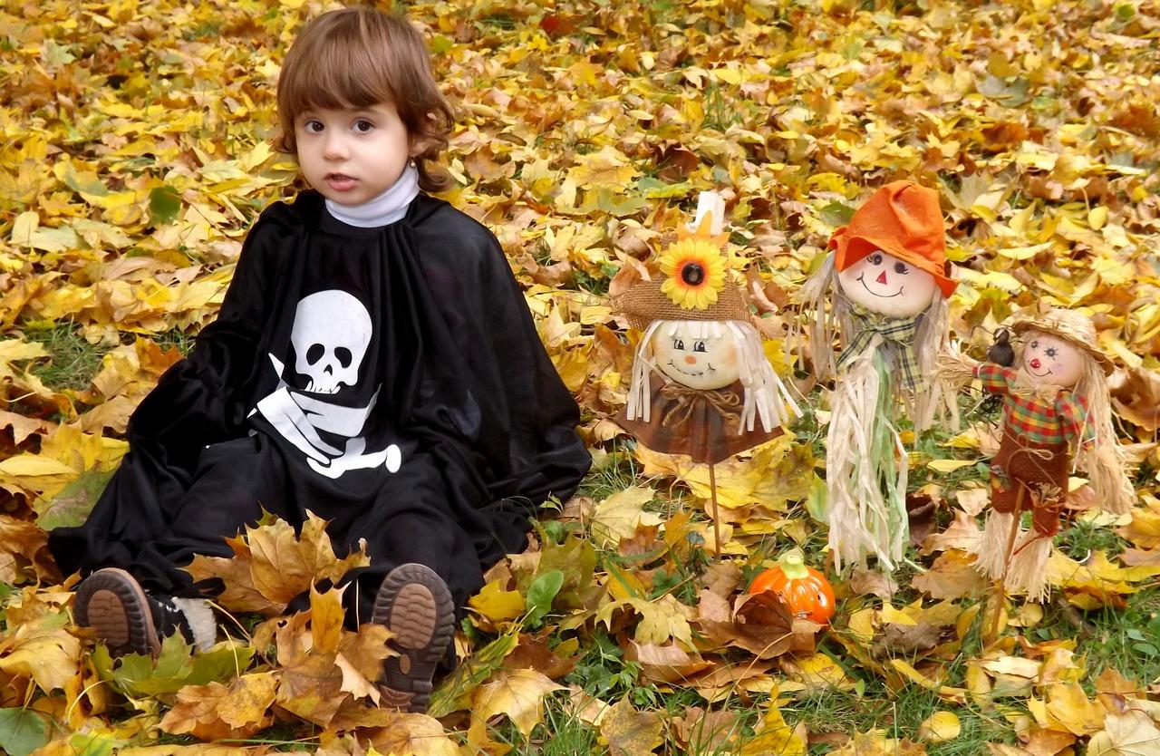 ハロウィンの子供のコスプレ